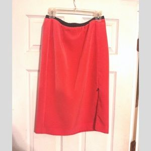 Worthington Coral Polyester Pencil Skirt